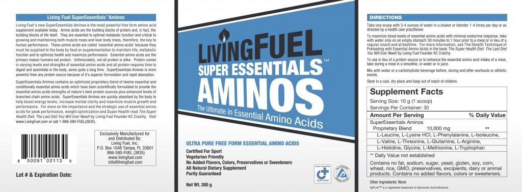Super Essentials Aminos Ingredients
