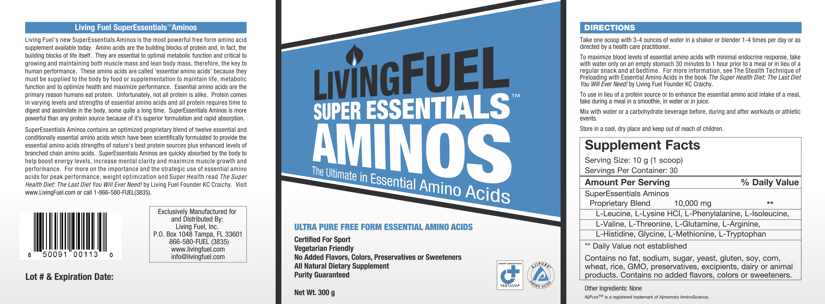 Super Essentials Aminos Ingredients